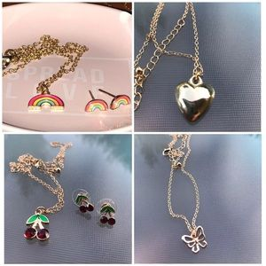 Rampage charm necklace & earring sets